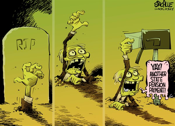 Zombies among us – Eric Allie Cartoon