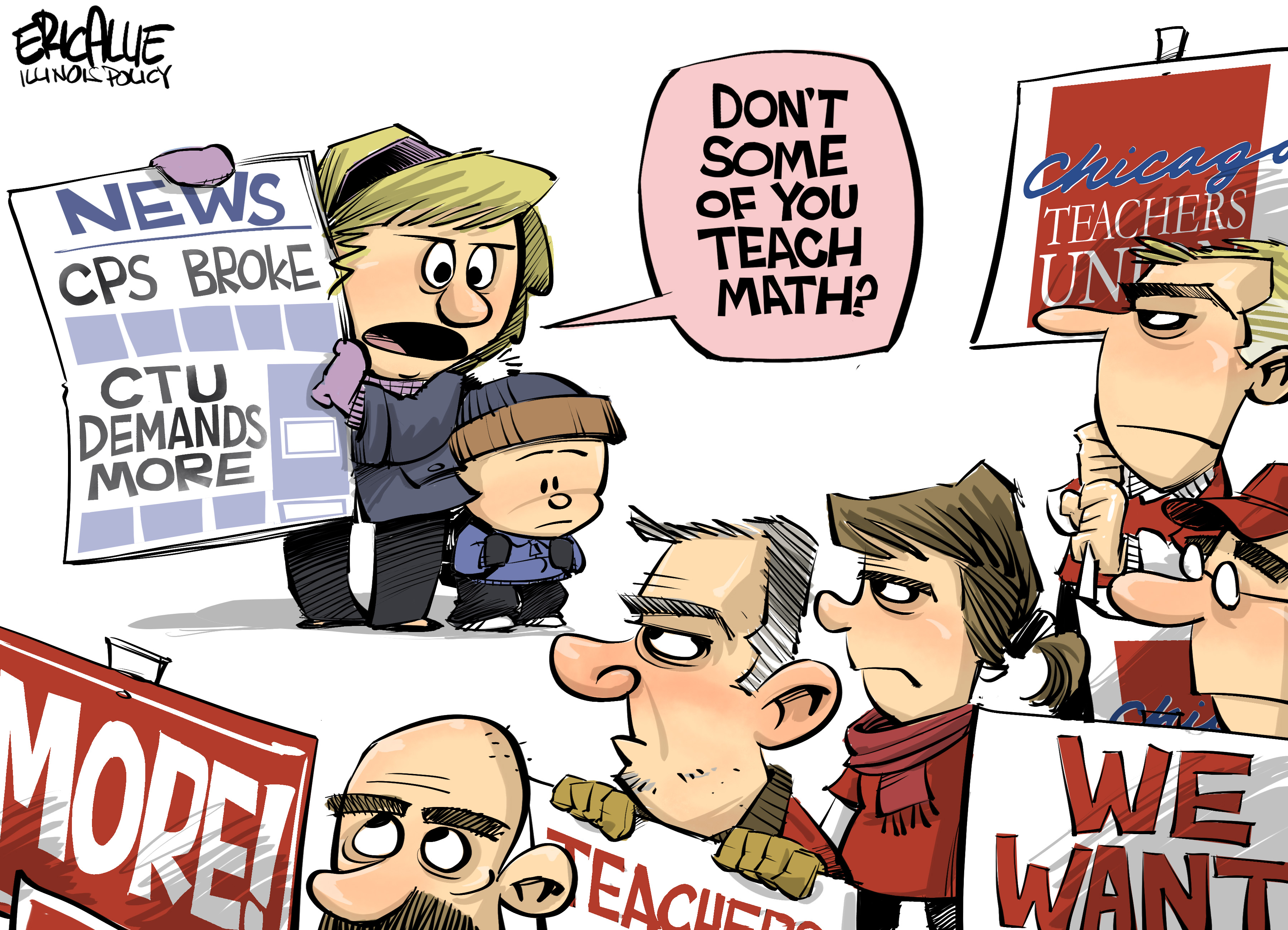 Math is hard – Eric Allie Cartoon